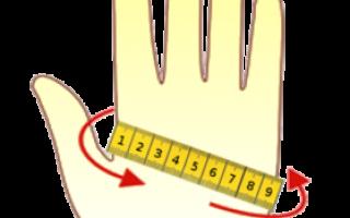 Розміри дитячих рукавиць, рукавичок-таблиця розмірів