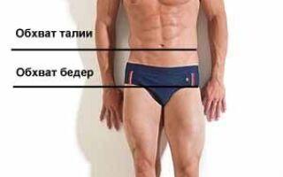 Розміри чоловічих брюк — таблиця розмірів