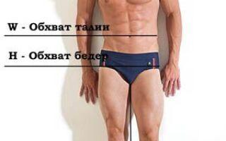 Розміри чоловічих джинсів — таблиця розмірів