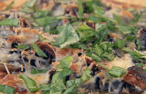 Зелень для піци з грибами